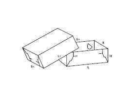 składane pudełko 0307
