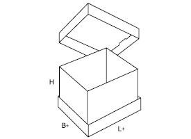dwuczęściowe pudełko tekturowe 0314