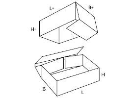 dwuczęściowe pudełko z tektury 0331