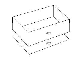zestaw pudełek tekturowych 0504