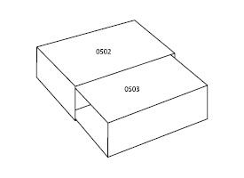 para pudełek z tektury 0505