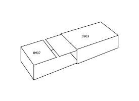 wsuwany pojemnik z tektury falistej 0509