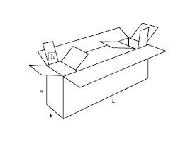 pudełko z tektury wielokomorowe 0621