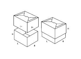 dwuelementowe pudełko tekturowe 0714